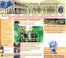 Website de um colégio de uma cidade da Zona da Mata mineira