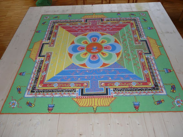 Medizin Buddha, Sandmandala, Sissach