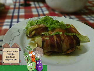 Peito de Frango com Queijo e Bacon