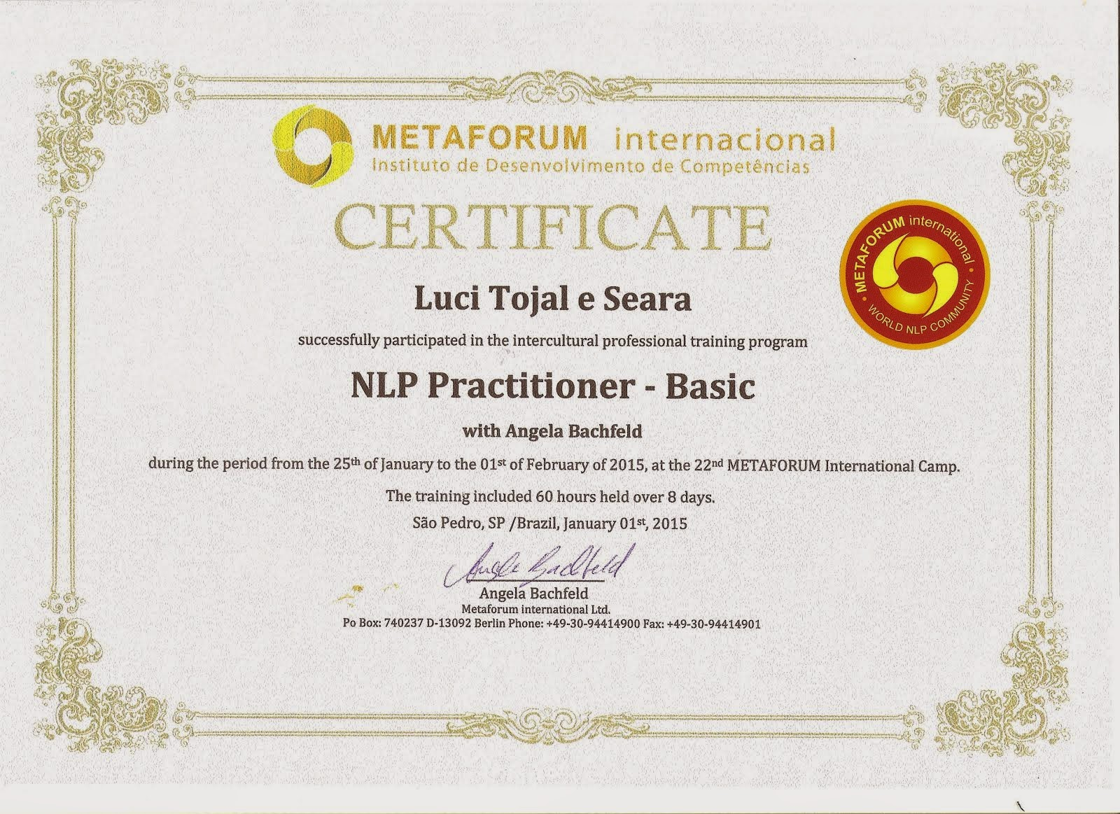 PNL Practitioner - Basic