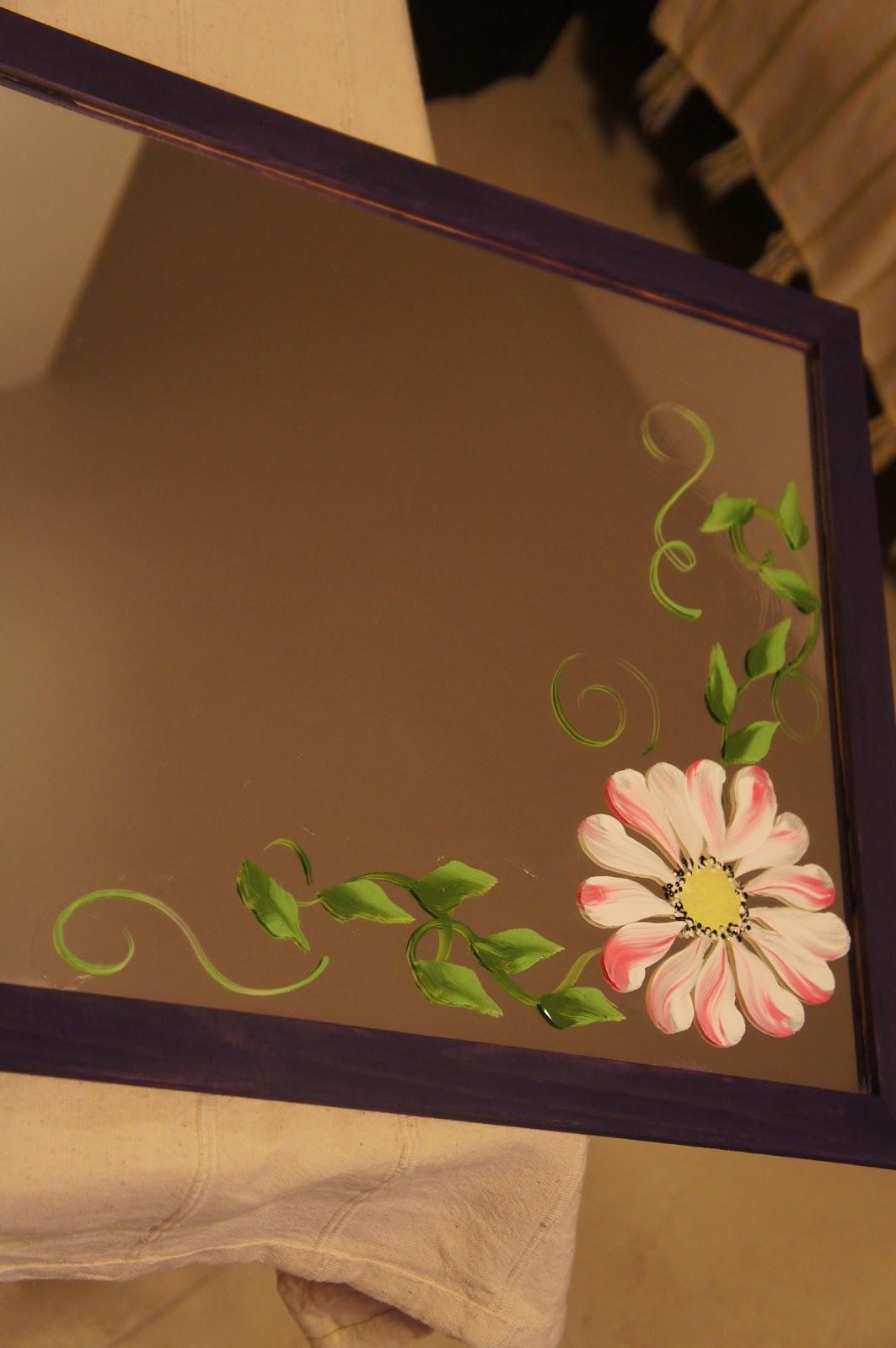 espejos parageros y paraguas pintados a mano