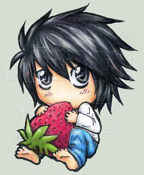 Chibi L and Light Yagami   Anime amp Manga  Pinterest