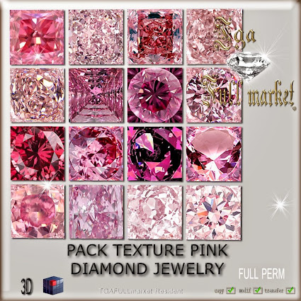 PACK TEXTURE PINK DIAMOND JEWELRY
