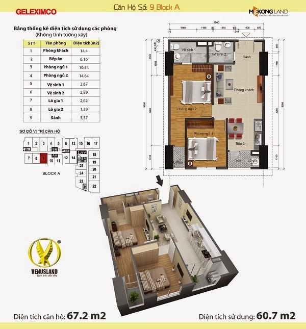 Bán toàn bộ các căn hộ siêu VIP Chung cư Gemek Tower đúng giá gốc