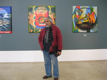 CAM en exposición de la pintora chilena Bruna Truffa en Galería Patricia Ready. (Santiago de Chile-