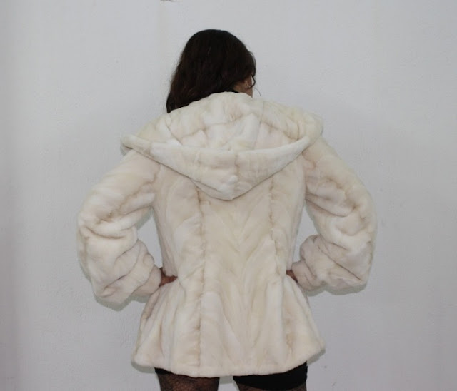 off white rear paws mink jacket