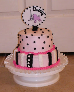 pink images of paris birthday cake