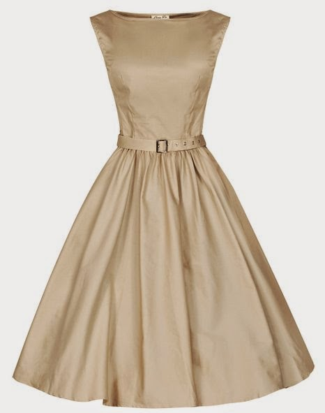 Lindy Bop 'Audrey' Hepburn Style Vintage 1950's Pastel Rockabilly Swing Dress