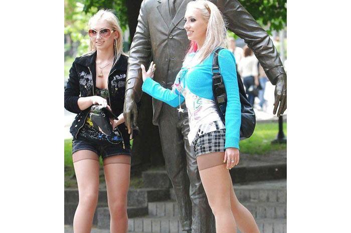 Rus Kızlar Modası Külotlu Çoraplar
