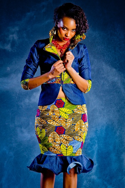 Lookbook Eve Denim Kitenge Collection Ciaafrique African Fashion Beauty Style