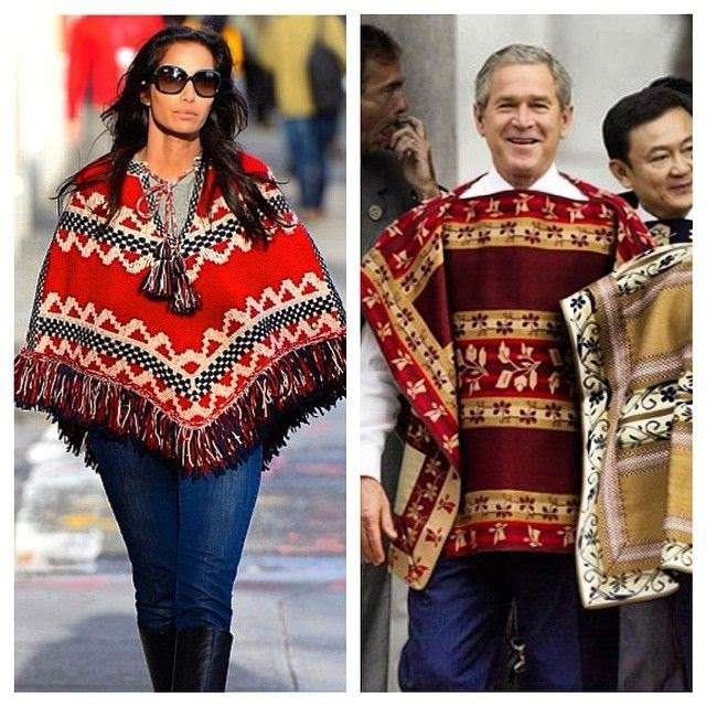 """""""Who wore it best?,"""" The 44-year-old captioned her Instagram image alongside the former of USA President, George W.Bush."""