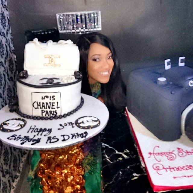Actress Rukky Sanda Celebrates Her Birthday With Huge Birthday Cake