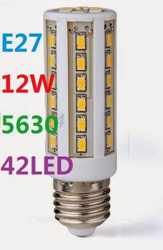 Lampadina lampada e27 12w 220v 42 led smd 5630 1260lm cold for Stabilizzatore di tensione 220v 3kw prezzi