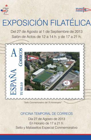 Exposición filatélica en Real Grupo de Cultura Covadonga, Gijón