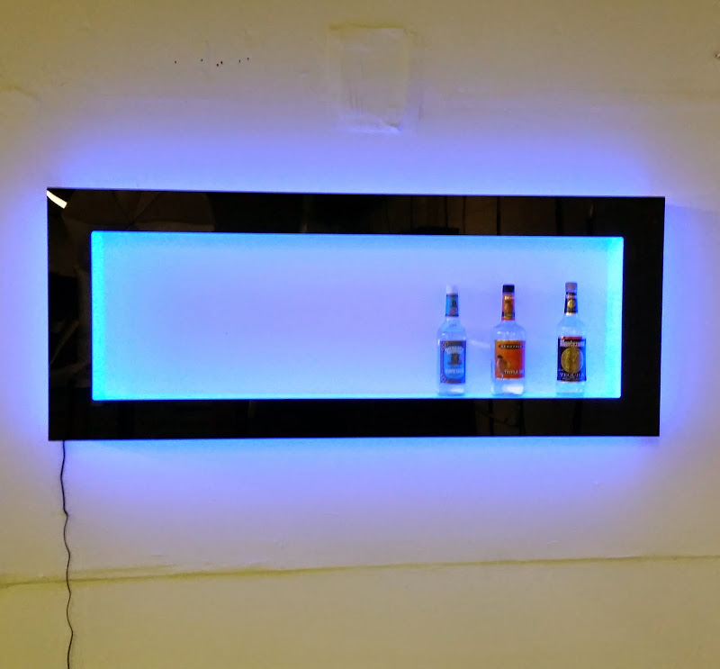 Floating Wall Shelves with Lights