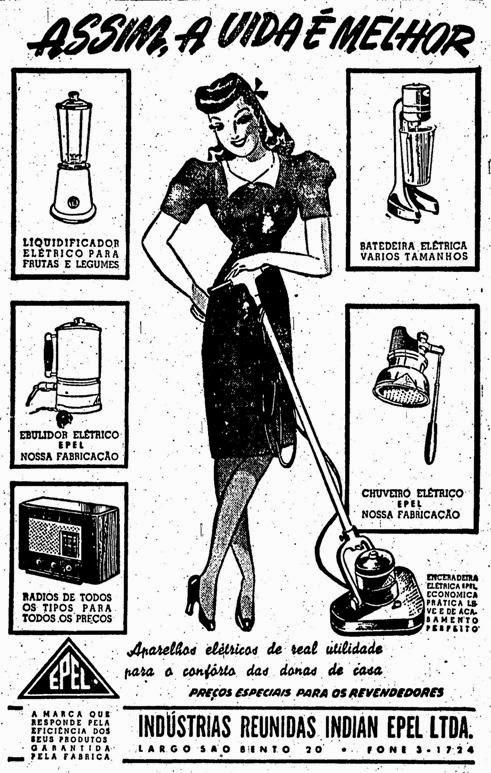 Propagandas Históricas Machistas - Eletrodomésticos Epel