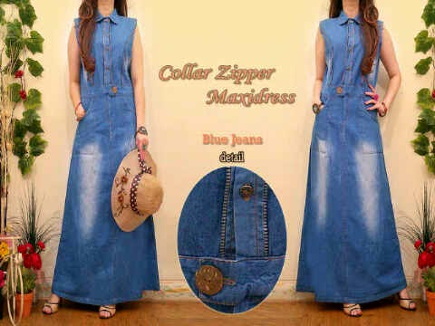 Material Jeans Washed Ornament Zipper fit to XL