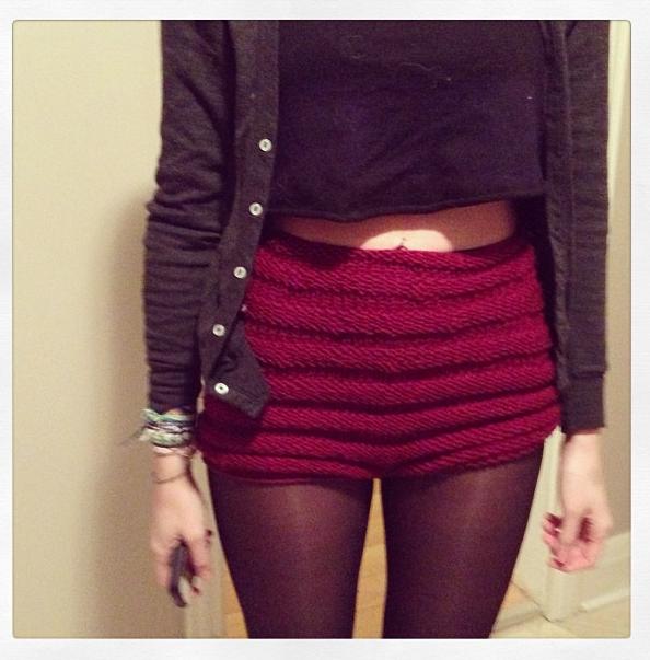 Knit Shorts Pattern : scarffaces: knit shorts!
