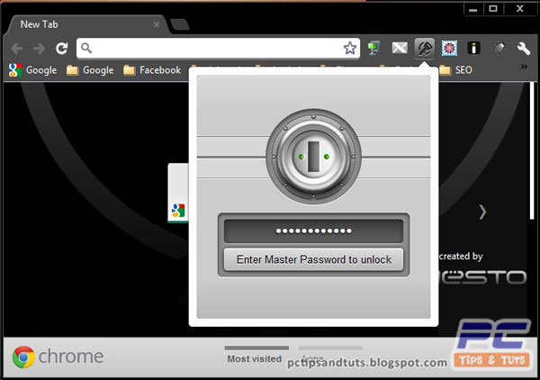 1password chrome extension unlocking