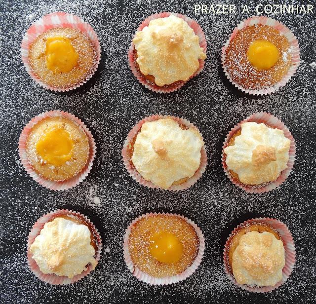 prazer a cozinhar - Cupcakes de limão com curd de limão