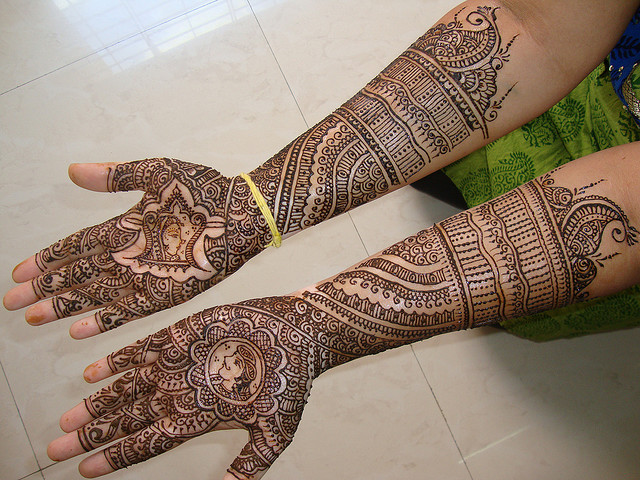Full Arm Mehndi : Latest easy arm mehndi desings