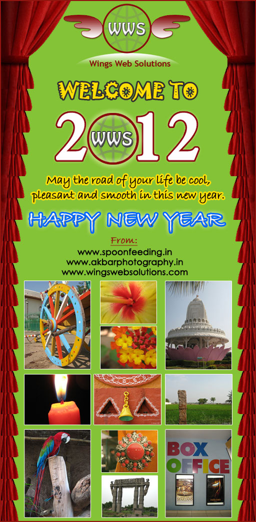infotainment jobs tourism telugu stories personality development happy new year wishes 2012 from spoonfeeding dot in wings web solutions