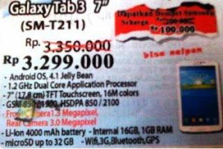 foto brosur harga galaxy tab 3