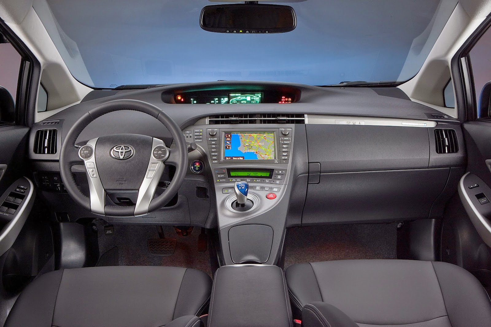Interior view of 2014 Toyota Prius Plug-In