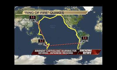 Patrón sismico , las cuatro esquinas de la Tierra
