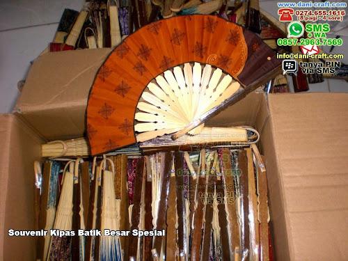 Souvenir Kipas Batik Besar Spesial Bambukain Tulungagung