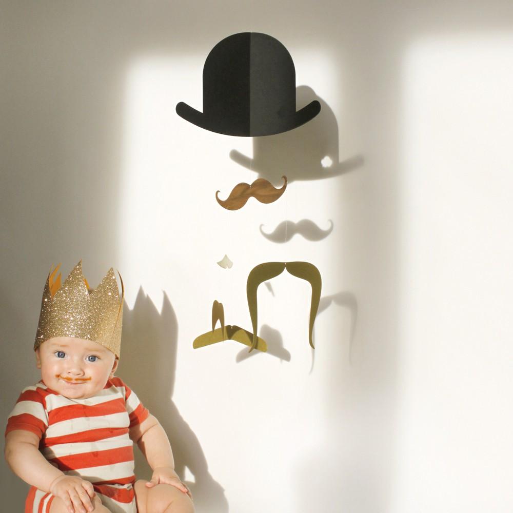 Tamara today mr moustache baby mobile - Designer babymobel ...