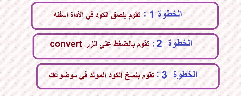 أداة تحويل كود html الى كود صديق لكي يظهر في المدونة على أنه كود html