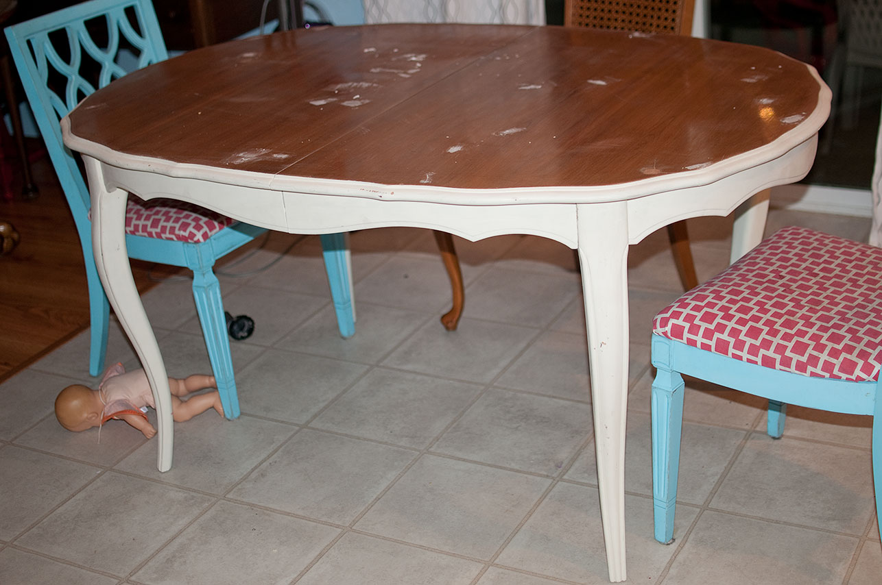 Little gray table kitchen table makeover - Kitchen table redo ...