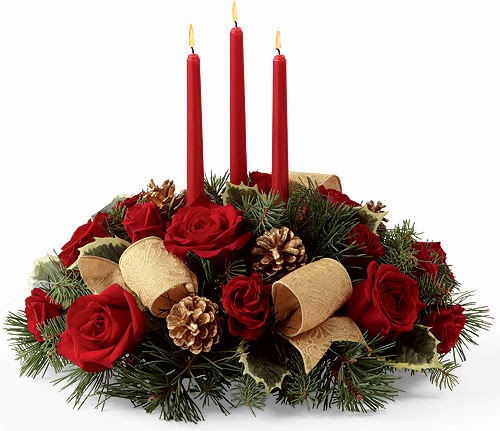 Centros de mesa de navidad con flores parte 1 - Como hacer centros de mesa para navidad ...