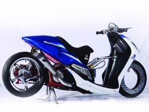 Contoh Model Modifikasi Yamaha Mio, Soul, Xeon