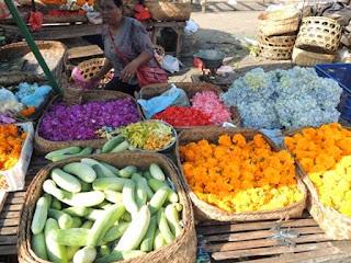 flower market, Bali