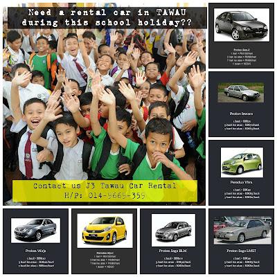 Tawau Car Rental for school holiday
