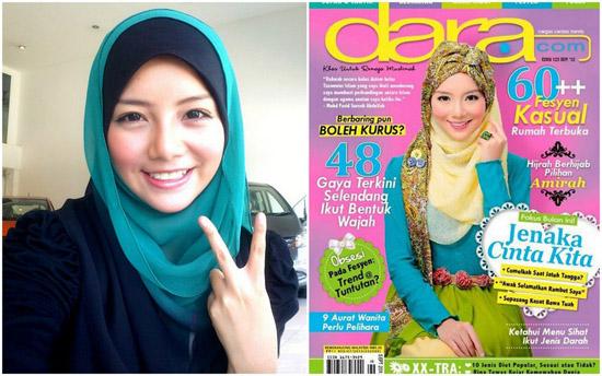 Blogger cover majalah dara.com - Amirah Filzah