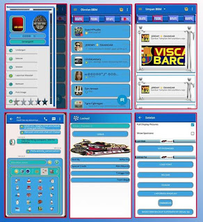 BBM Tema White Blue Background v 2.9.0.51 New