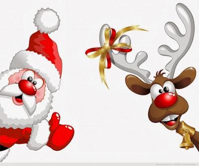 Tarjetas de Navidad con Santa