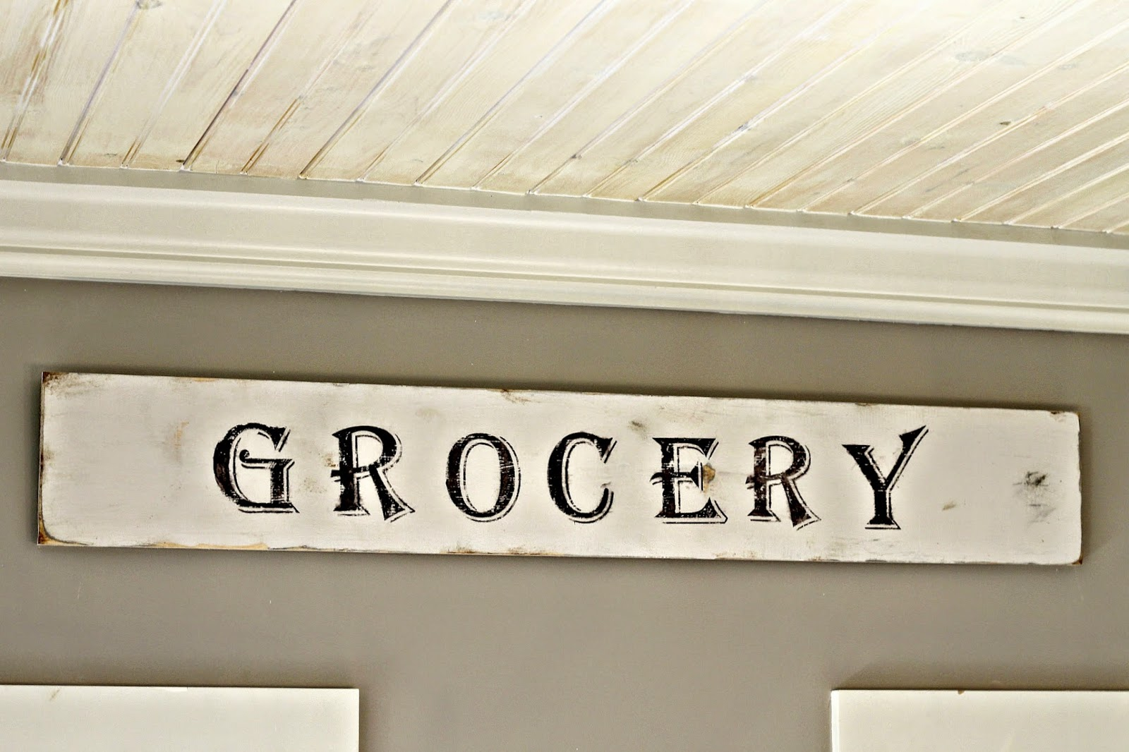 Fixer upper kitchen signs - I M Also Craving My Black White Grey Colors With Fall Around The Corner Yesterday I Picked Up Another Plastic Pumpkin To Paint And Add To My Grey Grouping