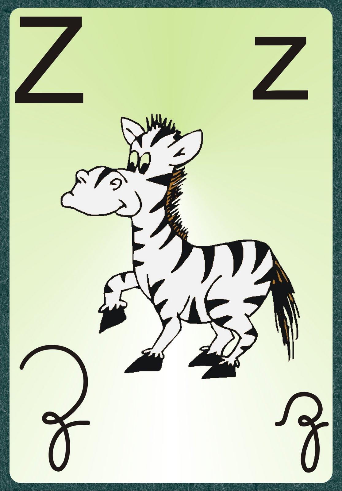 Alfabeto iIustrado 4 tipos de Letras para imprimir Grátis