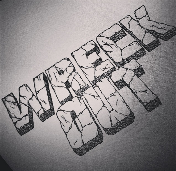 Wreck Out T-shirt Design Typography