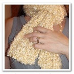 Popcorn with fondant Scarf (free)