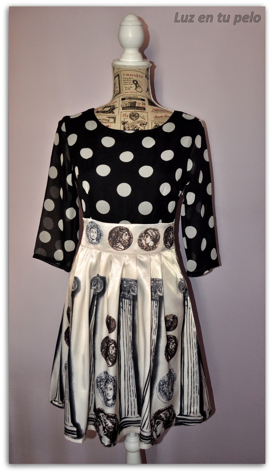 vestido barato para boda, vestido para boda de día, vestido de lunares, vestido de gasa, vestido de seda, vestido barato, vestido blanco y negro