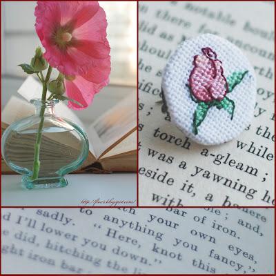 брошка вышивка, брошь с розой, вышивка роза, роза бутон вышивка, вышивка мниатюра