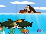 Chim cánh cụt câu cá, chơi game cau ca hay tại GameVui.biz