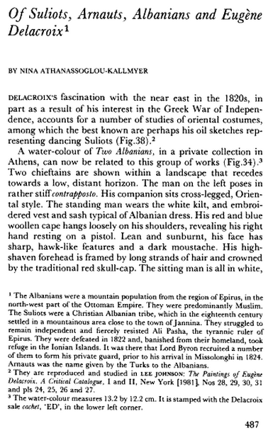 Of Suliots,Arnauts,Albanians