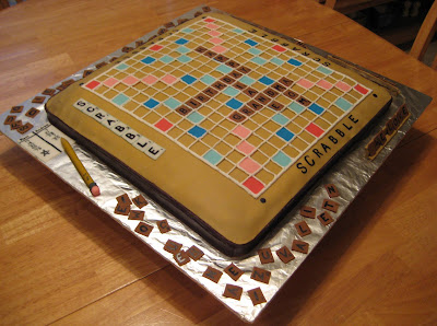3D Scrabble Board Game Cake 2
