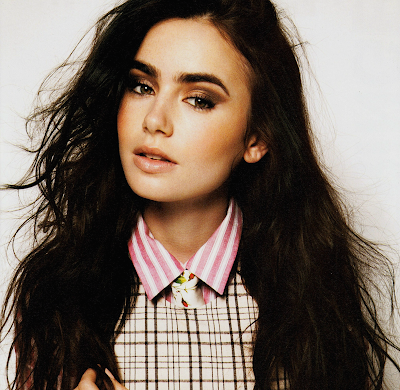 lily collins beauty blurbs
